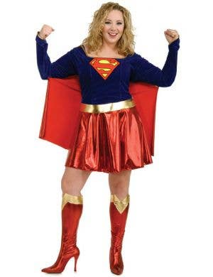 Supergirl Plus Size Sexy Women's Superhero Costume