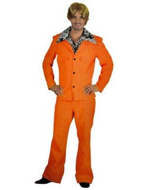 Orange Men's 1970's Anchorman Leisure Suit Costume