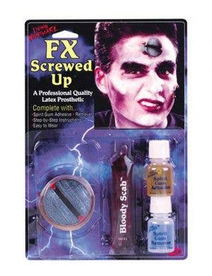 Theatrical Screw Prosthetic Halloween Accessory