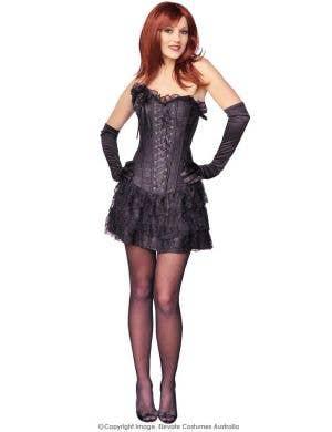 Spanish Skirted Women's Sexy Black Corset