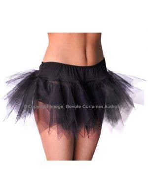 Jagged Cut Tutu Petticoat - Black