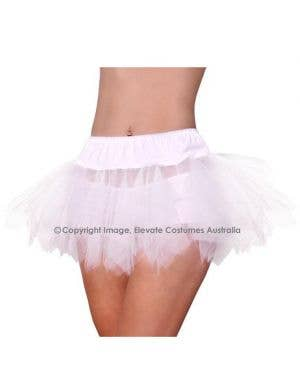 Jagged Cut Tutu Petticoat - White
