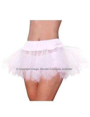 Jagged Cut Tutu Petticoat - White