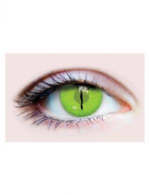Jurassic Dinosaur 90 Day Wear Green Contact Lenses