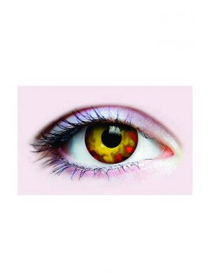 Red and Yellow Walking Dead Zombie Contact Lenses