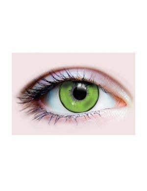 Neon Green Lizard King 90 Day Wear Halloween Contact Lenses
