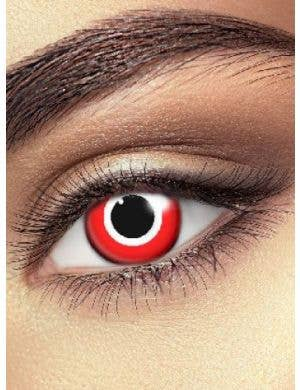 Assassin Target Single Wear Red Contact Lenses