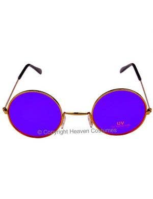 John Lennon Round Purple Hippie Sunglasses