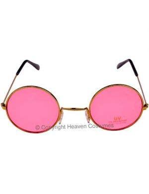 John Lennon Round Pink Hippie Sunglasses