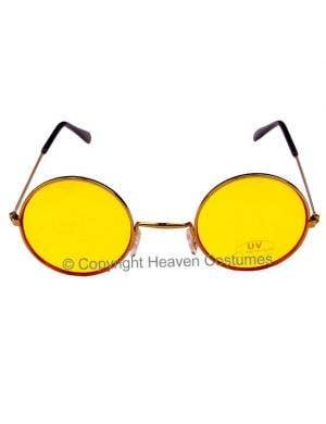 John Lennon Round Yellow Hippie Sunglasses