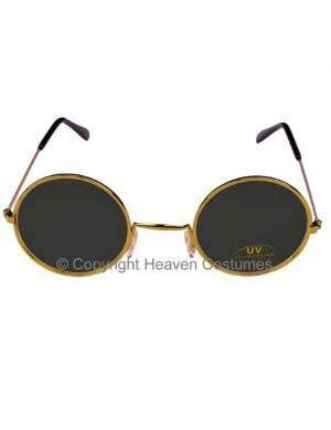 Round John Lennon Sunglasses in Black