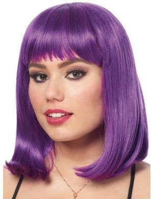 Peggy Sue Women's Deluxe Purple Bob Costume Wig