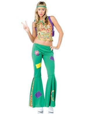Peace Sign Hippie Sexy Women's Costume