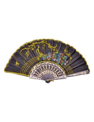 Peacock Costume Fan - Yellow