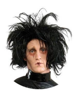 Edward Scissorhands Men's Black Costume Wig