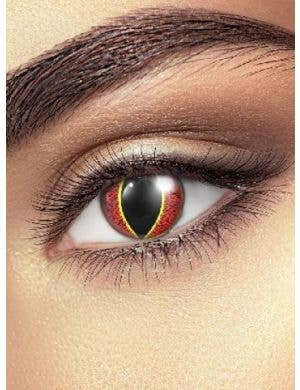 Flame Orange Contact Lenses Costume Accessory