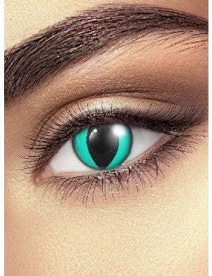 Crazy Cheshire Cat Aqua Coloured Contact Lenses