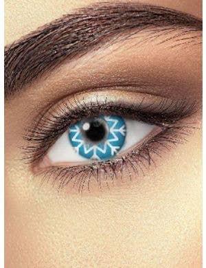 Blue Frozen Snowflake Contact Lenses Accessory