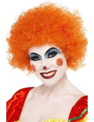 Orange Afro Wig Adult's Clown Costume Accessory Main Image