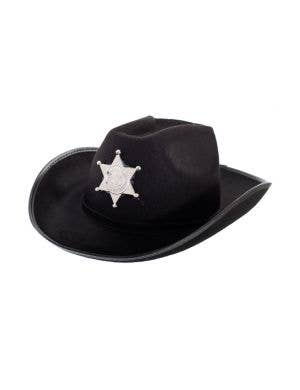 Feltex Black Deputy Sheriff Cowboy Hat Costume Accessory