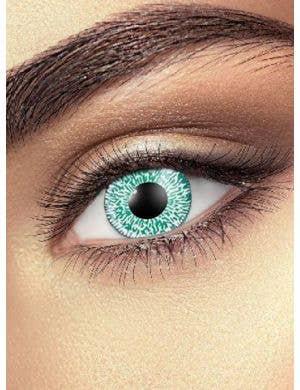 Fukny Vision Aqua and Black Contact Lenses