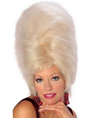 Tall Beehive Costume Wig in Blonde