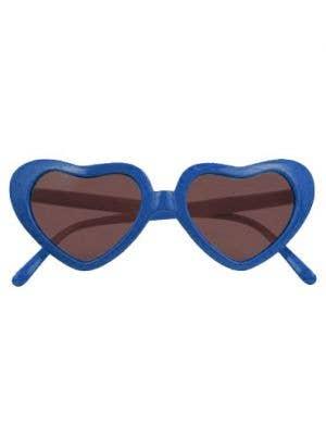 XLarge Heart Shaped Sunglasses - Blue