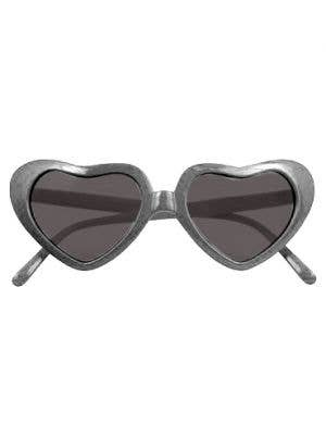 XLarge Heart Shaped Sunglasses - Silver