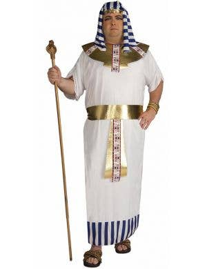 Men's Plus Size Egyptian Pharaoh Fancy Dress Costume Front