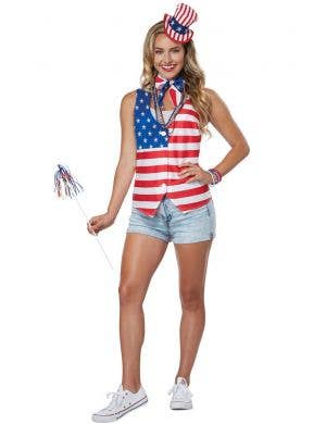 July 4th Women's American Patriot Fancy Dress Costume