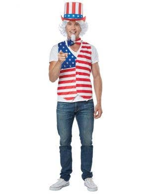 July 4th Men's American Patriot Fancy Dress Costume