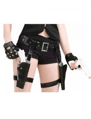 Thigh Holster and Guns Costume Accessory Set