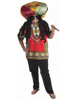Rasta Ridiculous Men's Jamaican Costume