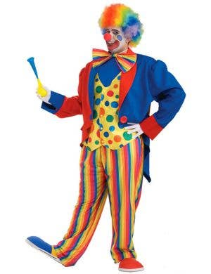 Circus Clown Men's Plus Size Costume
