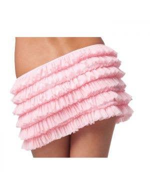 Burlesque Sexy Plus Size PInk Ruffle Skirt