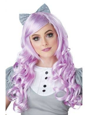 Lilac Women's Cosplay Doll Curly Costume Wig With Fringe