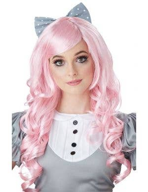 Lilac Women's Cosplay Doll Curly Costume Wig With Side Fringe