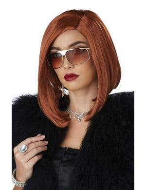 Womens concave blonde boss fashion costume wig accessory