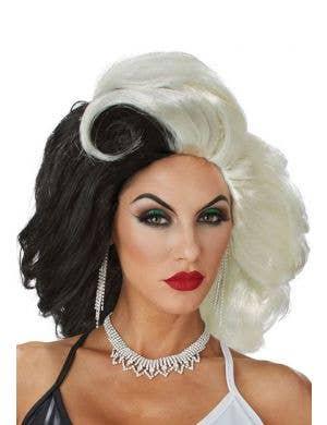 California Costumes Cruella De Vil Cruel Diva Women's Halloween Costume Wig