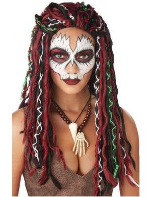 Women's Tribal Voodoo Priestess Halloween Costume Wig