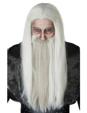 California Costumes Men's Dark Wizard Halloween Costume Wig And Beard Set