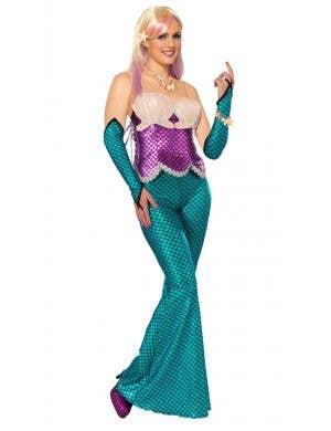 Purple Corset Mermaid Fancy Dress Costume Image 1
