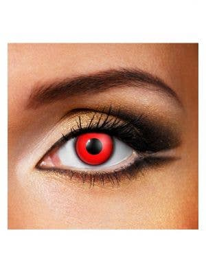 Bloody Red Single Wear Halloween Contact Lenses