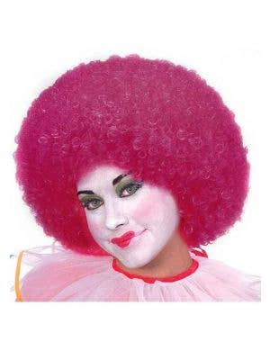 Clown Women's Magenta Pink Costume Wig