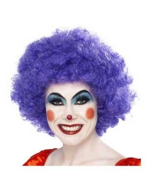 Clown Purple Afro Women's Costume Wig