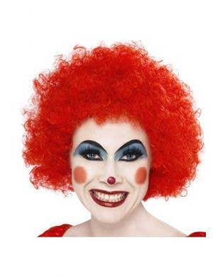 Clown Fancy Dress Women's Red Wig