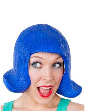 Novelty Blue Latex Costume Wig