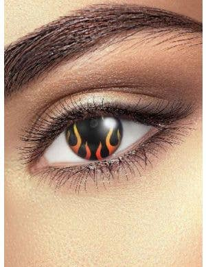 Hells Flame 90 Day Fire Eye Halloween Contact Lenses