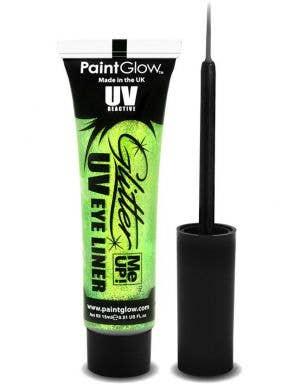 Mint Green UV Reactive Blacklight Glitter Eyeliner Main Image