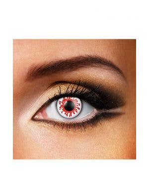 Crazy Blood Splat Patterned Single Wear Contact Lenses